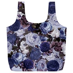 Rose Bushes Blue Full Print Recycle Bags (l)