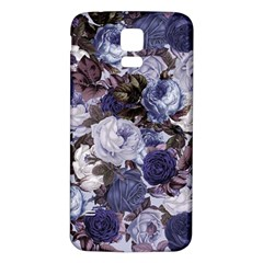 Rose Bushes Blue Samsung Galaxy S5 Back Case (white)