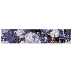 Rose Bushes Blue Small Flano Scarf