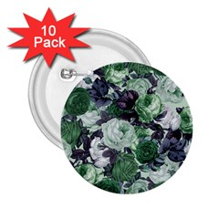 Rose Bushes Green 2 25  Buttons (10 Pack)