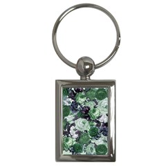 Rose Bushes Green Key Chains (rectangle)