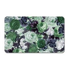 Rose Bushes Green Magnet (rectangular)