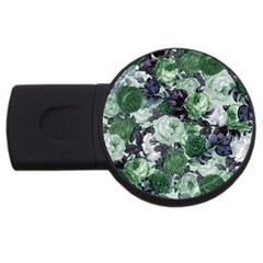 Rose Bushes Green Usb Flash Drive Round (4 Gb)