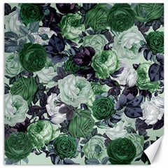 Rose Bushes Green Canvas 20  X 20