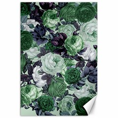 Rose Bushes Green Canvas 20  X 30