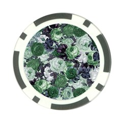 Rose Bushes Green Poker Chip Card Guard