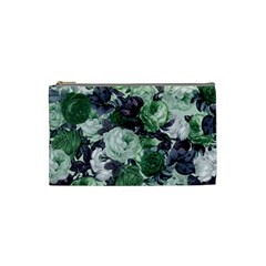 Rose Bushes Green Cosmetic Bag (small)