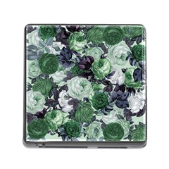 Rose Bushes Green Memory Card Reader (square)
