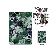 Rose Bushes Green Playing Cards 54 (mini)