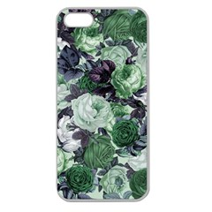 Rose Bushes Green Apple Seamless Iphone 5 Case (clear)
