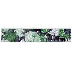 Rose Bushes Green Large Flano Scarf