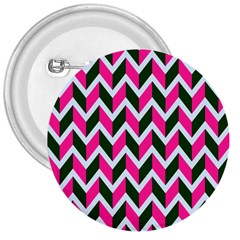 Chevron Pink Green Retro 3  Buttons