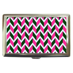 Chevron Pink Green Retro Cigarette Money Cases
