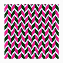 Chevron Pink Green Retro Medium Glasses Cloth