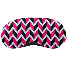 Chevron Pink Green Retro Sleeping Masks