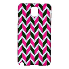 Chevron Pink Green Retro Samsung Galaxy Note 3 N9005 Hardshell Case
