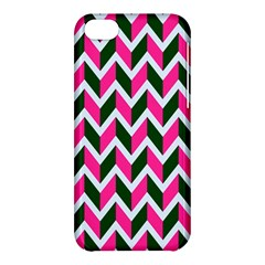 Chevron Pink Green Retro Apple Iphone 5c Hardshell Case