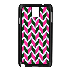 Chevron Pink Green Retro Samsung Galaxy Note 3 N9005 Case (black)