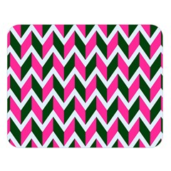 Chevron Pink Green Retro Double Sided Flano Blanket (large)