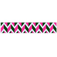 Chevron Pink Green Retro Large Flano Scarf
