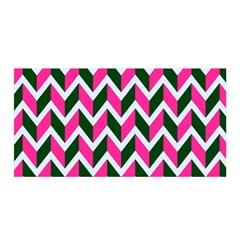 Chevron Pink Green Retro Satin Wrap