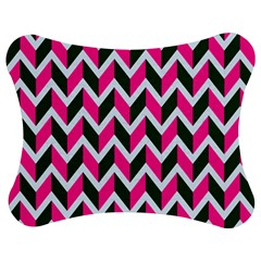 Chevron Pink Green Retro Jigsaw Puzzle Photo Stand (bow)