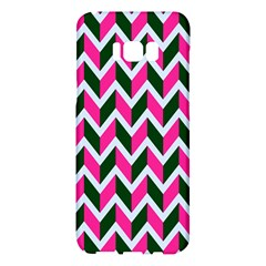 Chevron Pink Green Retro Samsung Galaxy S8 Plus Hardshell Case