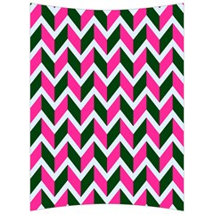 Chevron Pink Green Retro Back Support Cushion