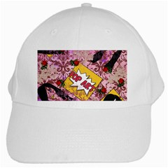 Red Retro Pop White Cap