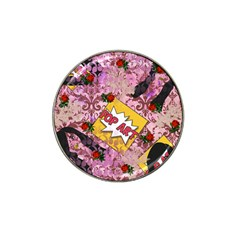 Red Retro Pop Hat Clip Ball Marker (4 Pack)