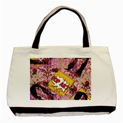 Red Retro Pop Basic Tote Bag (two Sides)