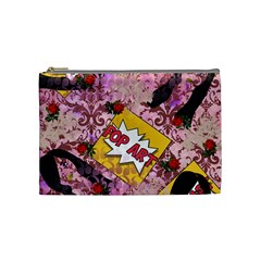 Red Retro Pop Cosmetic Bag (medium)