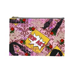 Red Retro Pop Cosmetic Bag (large)