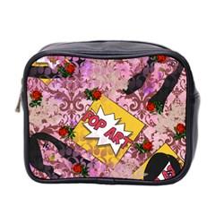 Red Retro Pop Mini Toiletries Bag 2 Side