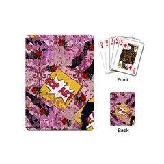 Red Retro Pop Playing Cards (mini)