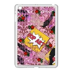 Red Retro Pop Apple Ipad Mini Case (white)