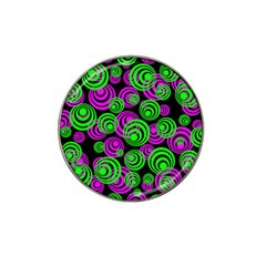 Neon Green And Pink Circles Hat Clip Ball Marker (10 Pack)