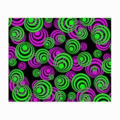 Neon Green And Pink Circles Small Glasses Cloth