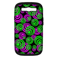 Neon Green And Pink Circles Samsung Galaxy S Iii Hardshell Case (pc+silicone)