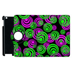 Neon Green And Pink Circles Apple Ipad 2 Flip 360 Case