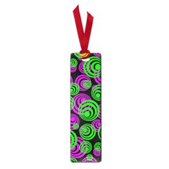 Neon Green And Pink Circles Small Book Marks