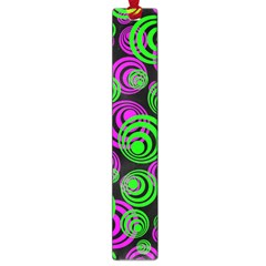Neon Green And Pink Circles Large Book Marks