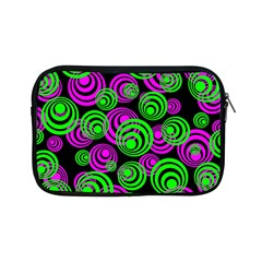 Neon Green And Pink Circles Apple Ipad Mini Zipper Cases