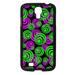 Neon Green And Pink Circles Samsung Galaxy S4 I9500/ I9505 Case (black)
