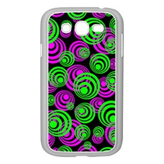 Neon Green And Pink Circles Samsung Galaxy Grand Duos I9082 Case (white)