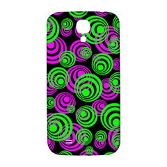 Neon Green And Pink Circles Samsung Galaxy S4 I9500/i9505  Hardshell Back Case