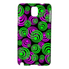 Neon Green And Pink Circles Samsung Galaxy Note 3 N9005 Hardshell Case