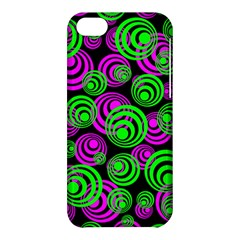 Neon Green And Pink Circles Apple Iphone 5c Hardshell Case