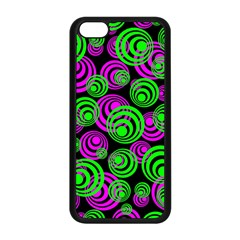 Neon Green And Pink Circles Apple Iphone 5c Seamless Case (black)