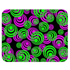 Neon Green And Pink Circles Double Sided Flano Blanket (medium)